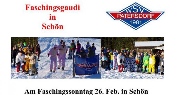 Faschingsgaudirennen in Schön